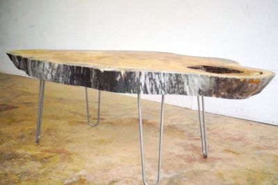 How a Beautiful Slab of Old Wood Becomes a Coffee Table